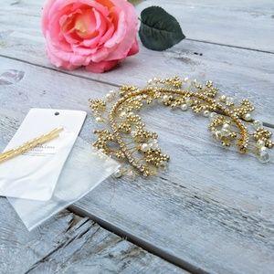 Accessories - New Wedding Headband with Crystal & Pearls